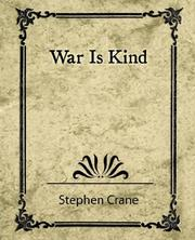 Cover of: War is kind