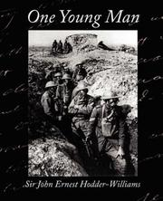 Cover of: One Young Man | Sir John Ernest Hodder-Williams