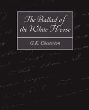 Cover of: The Ballad of the White Horse | G. K. Chesterton
