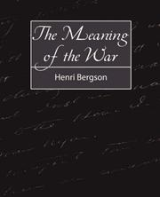 Cover of: The meaning of the war