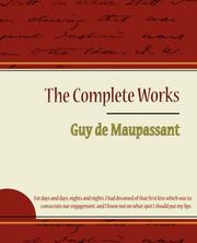 Cover of: Guy de Maupassant - The Complete Works