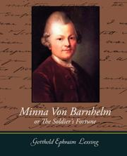 Cover of: Minna Von Barnhelm or the Soldier's Fortune: comedy in five acts