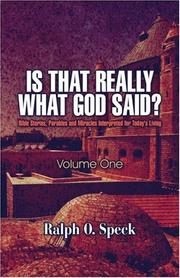 Cover of: Is That Really What God Said?