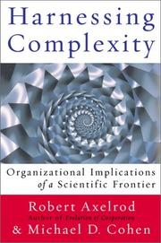 Cover of: Harnessing Complexity: organizational implications of a scientific frontier