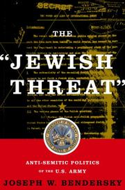 "Cover of: The ""Jewish Threat"""