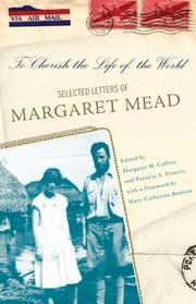 Cover of: To cherish the life of the world