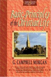Cover of: Basic Principles of the Christian Life
