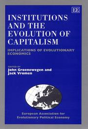 Cover of: Institutions and the Evolution of Capitalism |