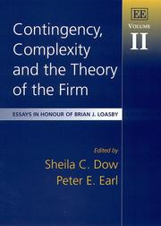 Cover of: Contingency, Complexity and the Theory of the Firm |