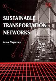 Cover of: Sustainable Transportation Networks (Elgar Monographs)