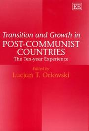Cover of: Transition and Growth in Post-Communist Countries