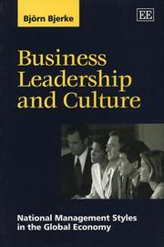 Cover of: Business Leadership and Culture
