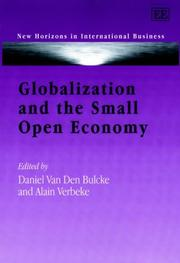 Cover of: Globalization and the Small Open Economy (New Horizons in International Business) |