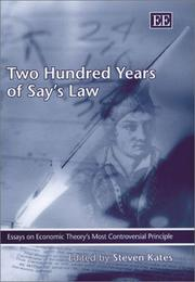 Cover of: Two Hundred Years of Say