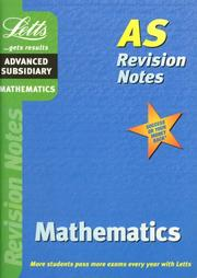 Cover of: Maths (Letts AS Revision Notes)