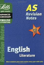 Cover of: English (Letts AS Revision Notes)