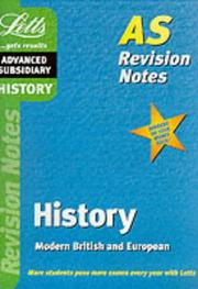 Cover of: History (Letts AS Revision Notes)