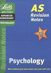 Cover of: Psychology (Letts Revision Notes)