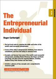 Cover of: The Entrepreunerial Individual