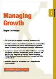 Cover of: Managing Growth