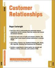 Cover of: Customer Relationships (Express Exec)