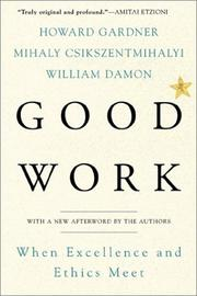 Cover of: Good Work | Howard Gardner