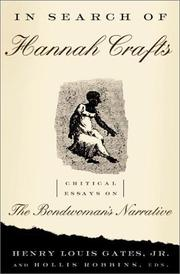 Cover of: In search of Hannah Crafts | Henry Louis Gates, Jr., Hollis Robbins, eds.