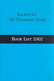 Cover of: Society for Old Testament Study | George J. Brooke