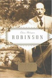 Cover of: Edwin Arlington Robinson Poems