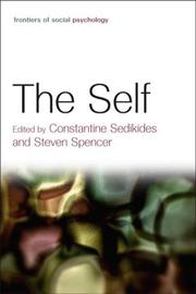 Cover of: The Self (Frontiers of Social Psychology) | C. Sedikides