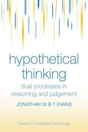 Cover of: Hypothetical Thinking | Jonathan Evans