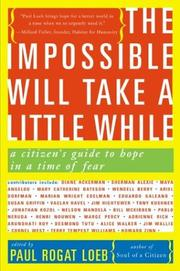 Cover of: The Impossible Will Take a Little While