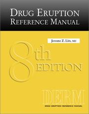 Cover of: Drug Eruption Reference Manual, Eighth Edition (2002) | Jerome Z. Litt
