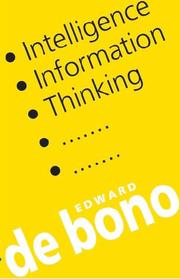 Cover of: Intelligence, Information, Thinking