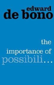 Cover of: The Importance of Possibili..