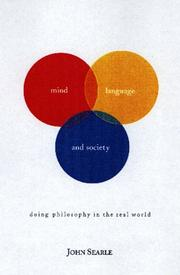Cover of: Mind, language, and society: philosophy in the real world