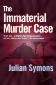 Cover of: The immaterial murder case