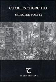 Cover of: Charles Churchill: Selected Poetry (Poetry Recoveries)