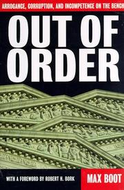 Cover of: Out of order | Max Boot