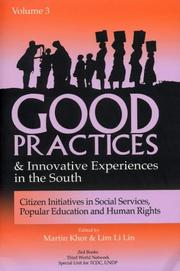 Cover of: Good Practices And Innovative Experiences In The South: Volume 3 |