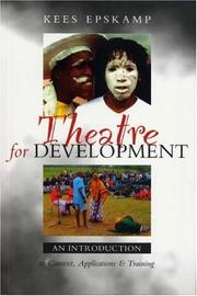 Cover of: Theatre for Development | Kees Epskamp