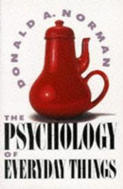 Cover of: The psychology of everyday things | Donald A. Norman.