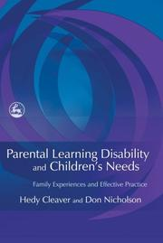 Cover of: Parental Learning Disability and Children