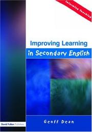 Cover of: Improving Learning in Secondary English