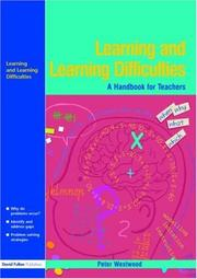 Cover of: Learning and Learning Difficulties | Peter S. Westwood