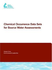 Cover of: Chemical Occurrence Data Sets for Source Water Assessments |