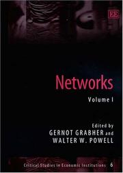 Cover of: Networks (Ciritical Studies in Economic Institutions) |