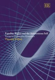Cover of: Equality, Rights and the Autonomous Self