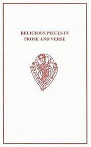 Cover of: Religious Pieces in Prose and Verse from Robert Thornton's MS (cir. 1440)