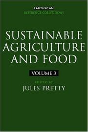 Cover of: Sustainable Agriculture and Food